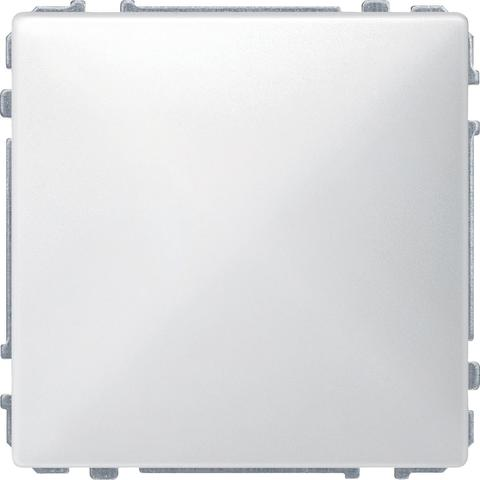 Выключатель одноклавишный промежуточный. Цвет Полярно-белый. Merten. MTN3117-0000+MTN412119