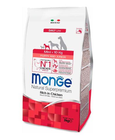 Monge Dog Mini корм для взрослых собак мелких  пород с курицей 3 кг
