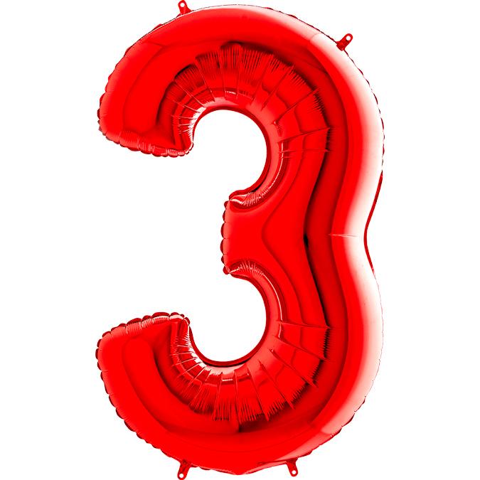 Красная цифра 3