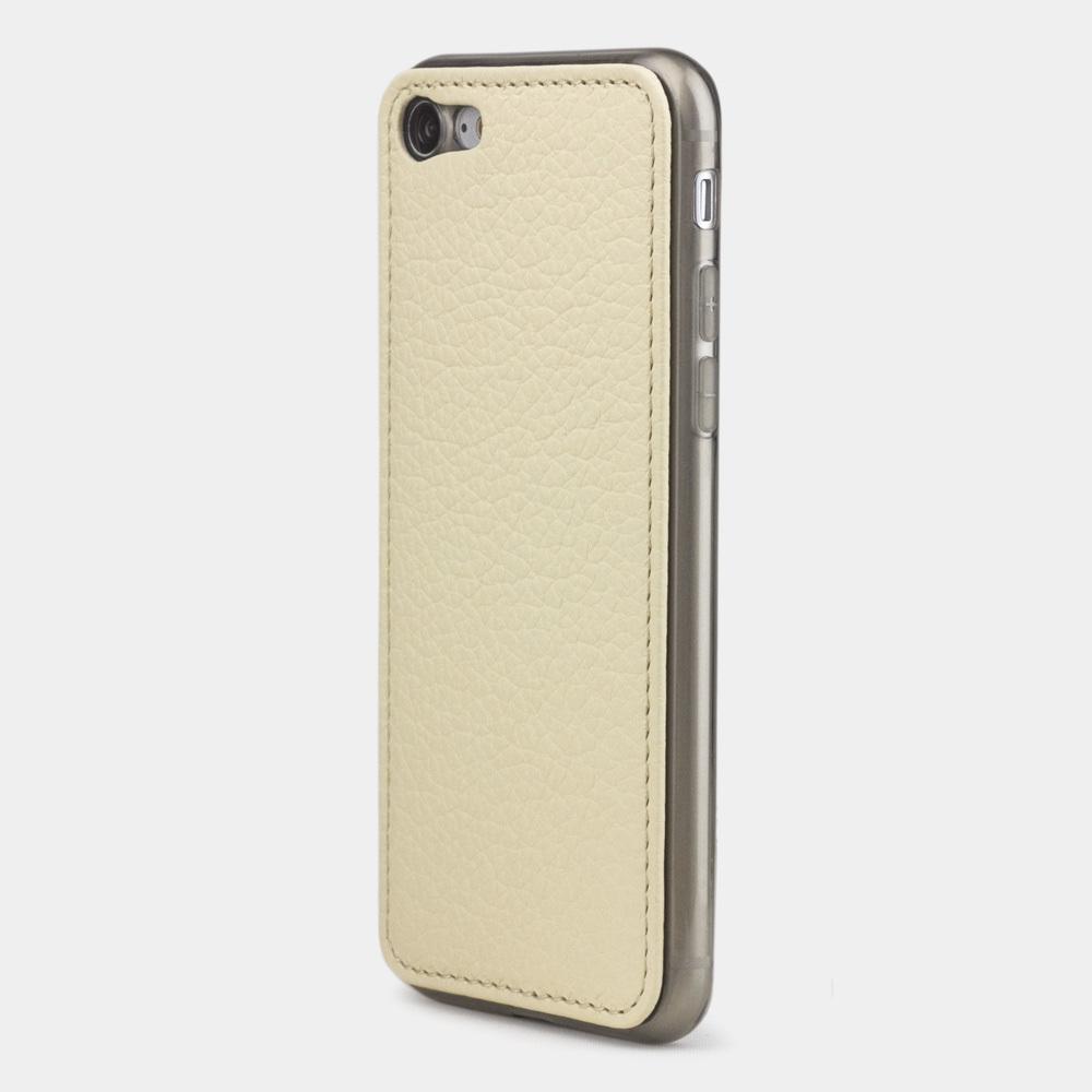 Чехол-накладка для iPhone 8/SE из натуральной кожи теленка, молочного цвета