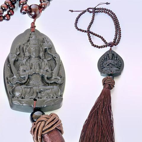 Подвеска-оберег с бусинами Авалокитешвара