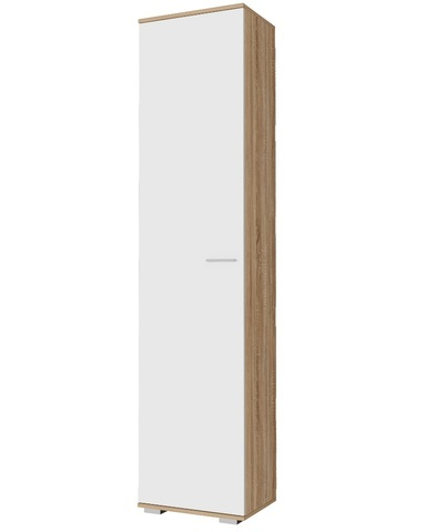 Шкаф-пенал ИТАЛИЯ П-500  дуб сонома / белый глянец