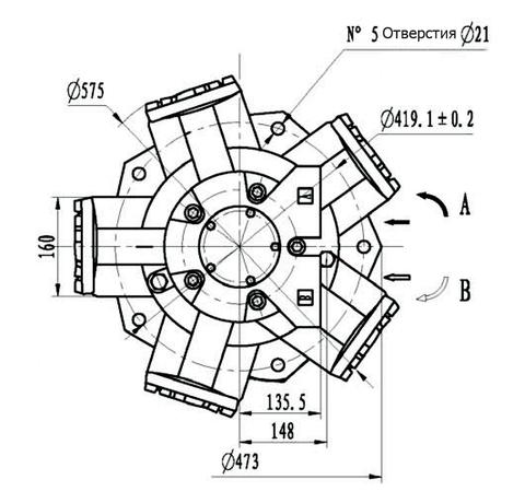Гидромотор IMB 125-1800