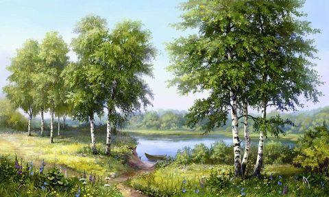 Картина раскраска по номерам 30x40 Летняя природа