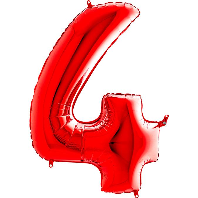 Красная цифра 4