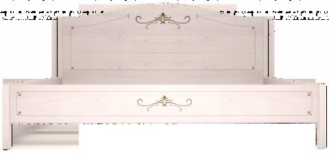 Кровать двуспальная Афродита 160х200 без основания Арника белый