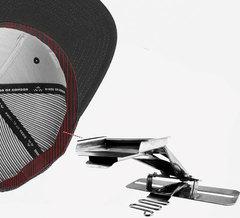 Фото: Приспособление TL-07 (H-07)  для пришивания налобной ленты к бейсболке c  одновременным втачиванием ленты для закрытия шва (вход 55 мм-31 мм)