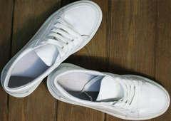 Стильные белые кеды кроссовки женские модные Maria Sonet 274k All White.