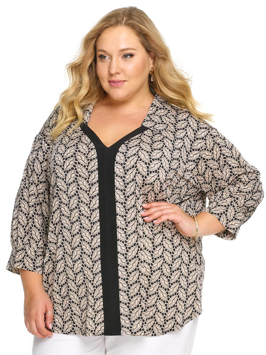Женская рубашка большой размер до 78