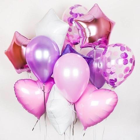 Сет воздушных шаров с гелием для девочки