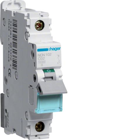 Автоматический выключатель 1Р, C-2A, 10kA
