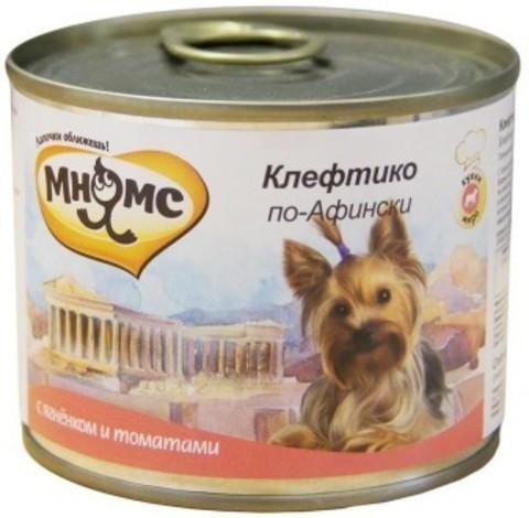 Мнямс консервы для собак Клефтико по-Афински (ягненок с томатами)
