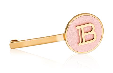 Balmain Hair Золотой зажим с логотипом