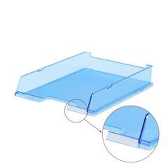 Лоток для бумаг HAN горизонтальный с индексным окном прозрачный синий