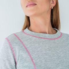 Термобелье женское серое с ярко-розовой строчкой