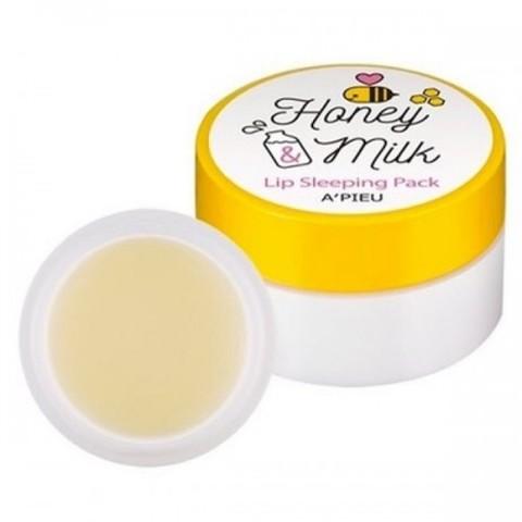 A'pieu Honey And Milk Lip Sleeping Pack ночная маска для губ с медом и молоком