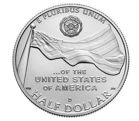 50 центов. Американский легион. 100 лет со дня основания. США. 2019 г. UNC