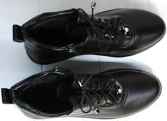 Женские весенние ботинки кеды Evromoda 375-1019 SA Black