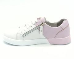Кеды белые с розовой пяткой