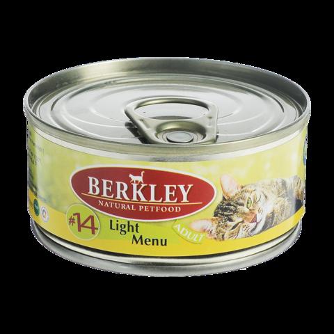 Berkley № 14 Консервы для кошек с телятиной и кроликом легкая формула