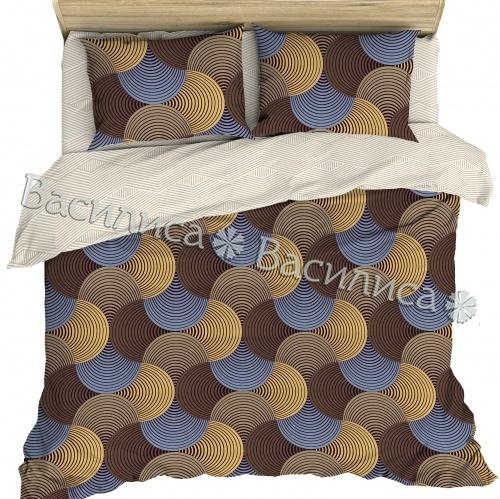 Постельное белье бязь Евро  Василиса 70х70 рис 7654/2