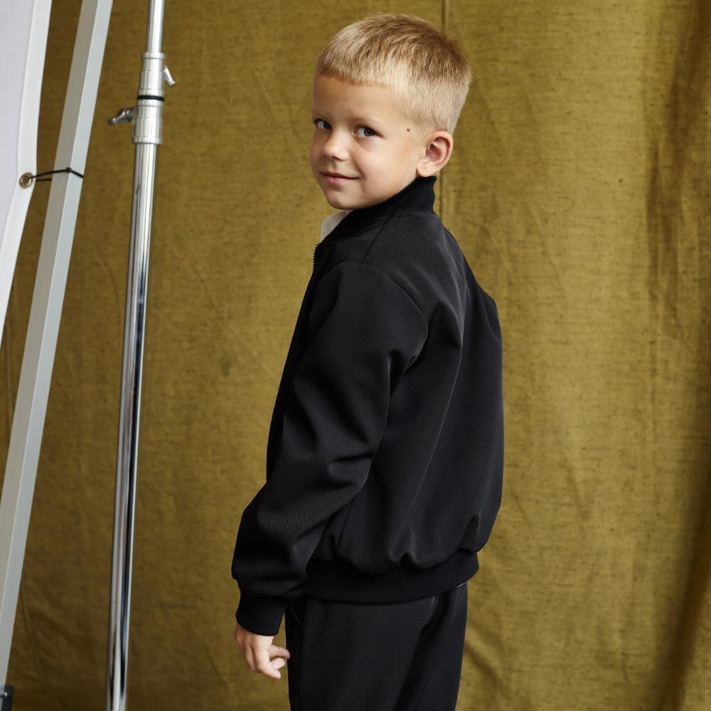Детский школьный костюм для мальчиков в черном цвете