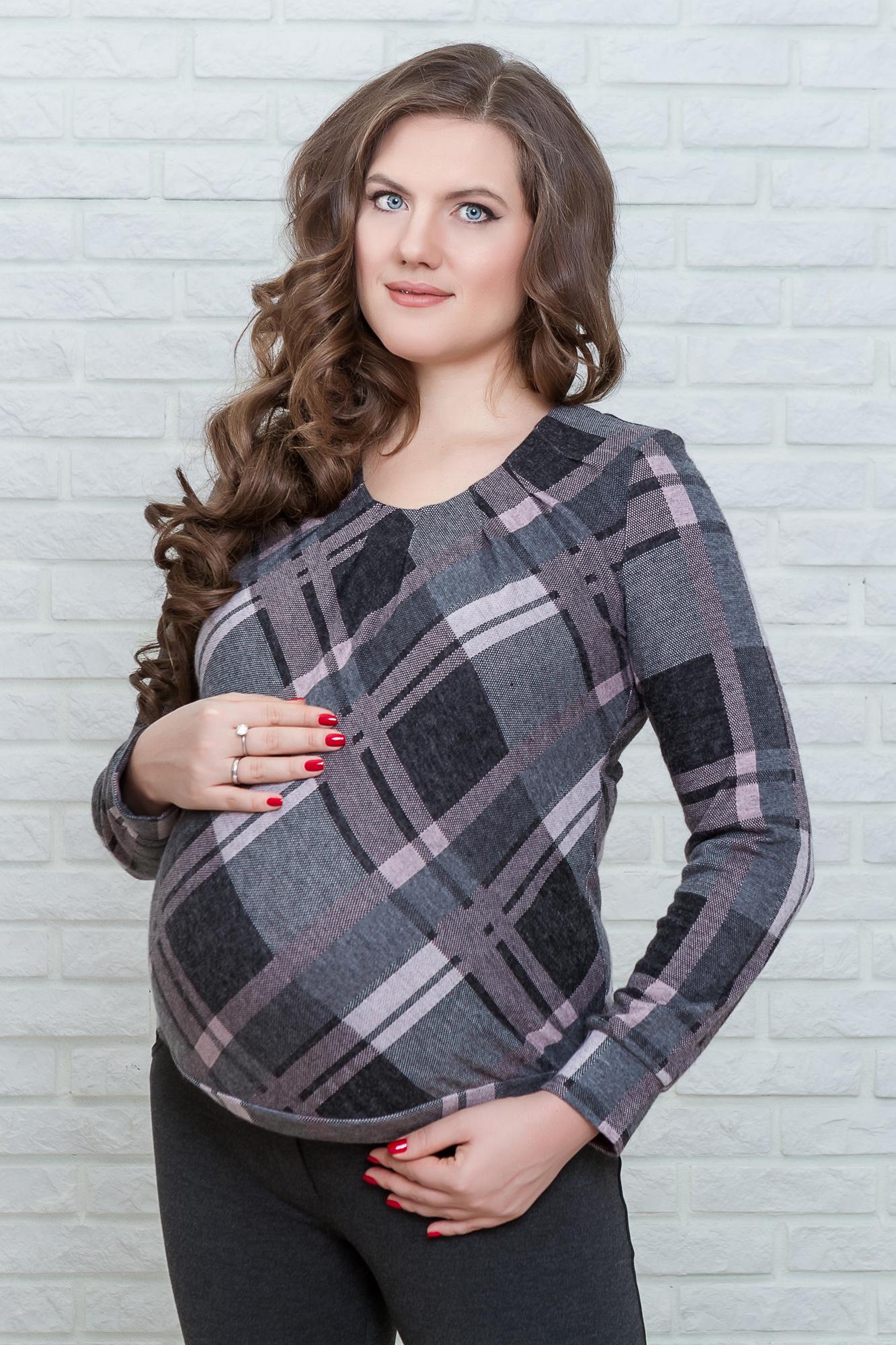 Джемпер для беременных 01755 розовый