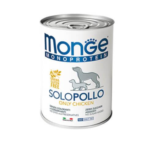 Купить Monge Monoprotein Solo Manzo Only Chicken Монобелковый паштет с курицей для взрослых собак всех пород 150 гр