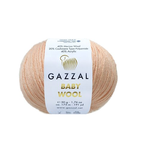 Пряжа Gazzal Baby Wool 834 персик