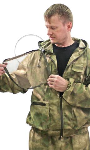 Костюм Противомоскитный тк. Рип стоп цв. АТАК зеленый