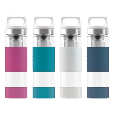Термобутылка Sigg H&C Glass WMB Midnight (0,4 литра), белая