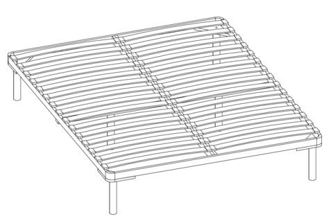 Основание к кровати Афродита 160х200 разборное Арника
