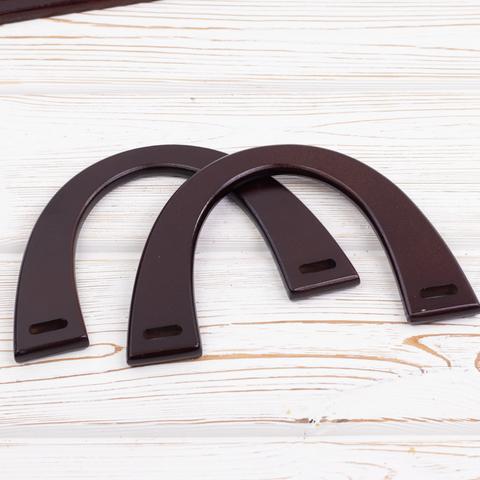 Деревянные ручки для сумки N11 Коричневые