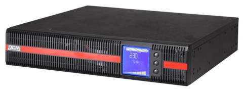 Источник бесперебойного питания Powercom Источник бесперебойного питания Powercom MACAN, On-Line, 2000VA / 2000W, Rack/Tower, IEC, LCD, Serial+USB, SmartSlot, подкл. доп. батарей