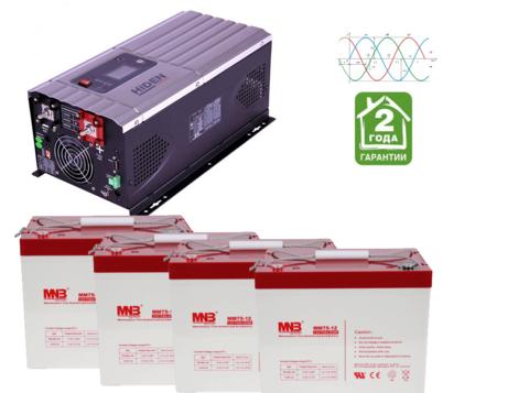 Комплект ИБП HPS30-6048-АКБ MM75 (48в, 6000Вт)