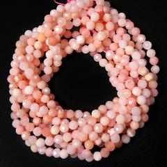 Бусины розовый опал А граненый 4 мм цена за 48 бусин (~19 см)