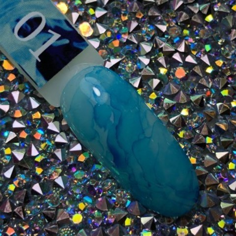 Акварельные капли для росписи №1 (синие) BlooMax, 5 мл
