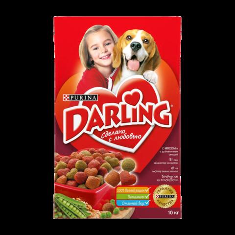 Purina Darling Сухой корм для собак с мясом и овощами