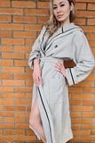 Длинный махровый халат с капюшоном Luna du Giorno