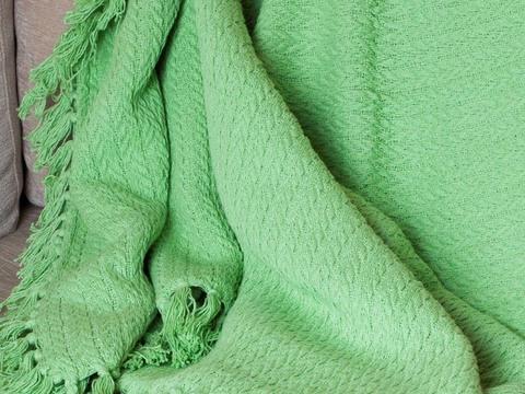 Покрывало хлопок Манджу светло-зеленый