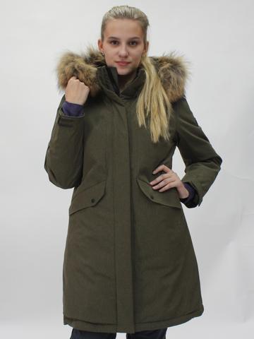 Горнолыжная женская куртка Snow Headquarter цвета хаки.