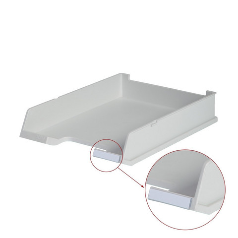 Лоток для бумаг HAN горизонтальный с индексным окном серый