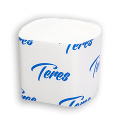 Бумага туалетная листовая Терес 2-слойная 40 пачек по 250 листов (артикул производителя T-0070)