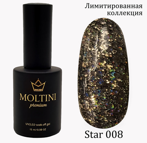 Гель-лак Moltini Premium STAR 008, 15 ml