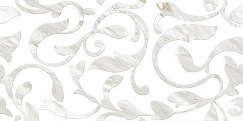 Плитка настенная CERSANIT Royal Stone 598х298 декорированная A, белый C-RSL052D