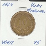 V0422 1964 Чили 10 сентесимо
