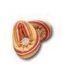 Тапочки трикотажные - Оранжевый. Одежда для кукол, пупсов и мягких игрушек.