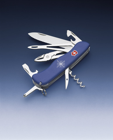 Нож Victorinox Skipper, 111 мм, 17 функций, синий