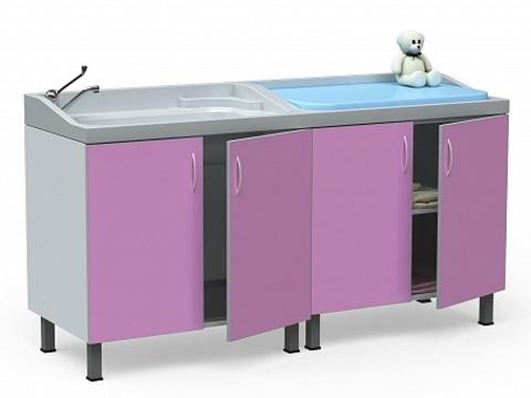 Стол для санитарной обработки, купания новорожденных  БТ-ТМ-180-Н - фото