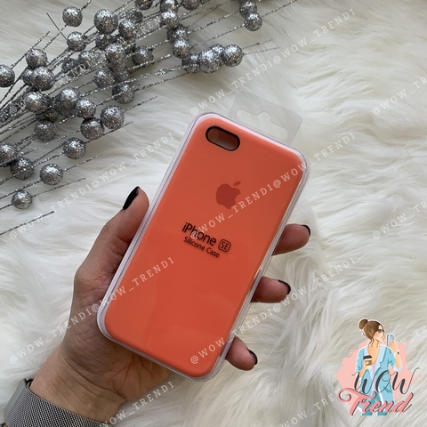 Чехол iPhone 5/5s/SE Silicone Case /orange/ оранжевый 1:1